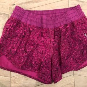 lululemon athletica pink running shorts